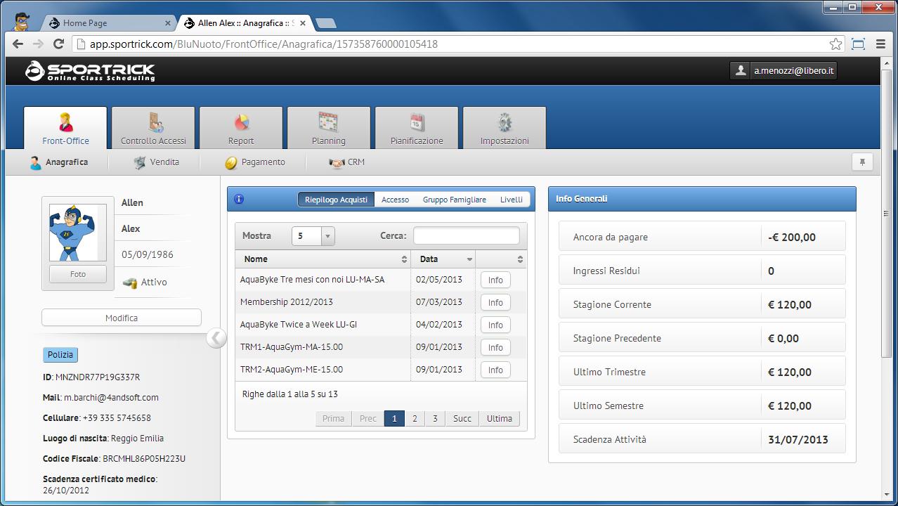 SportRick, il gestionale in chiave web-app