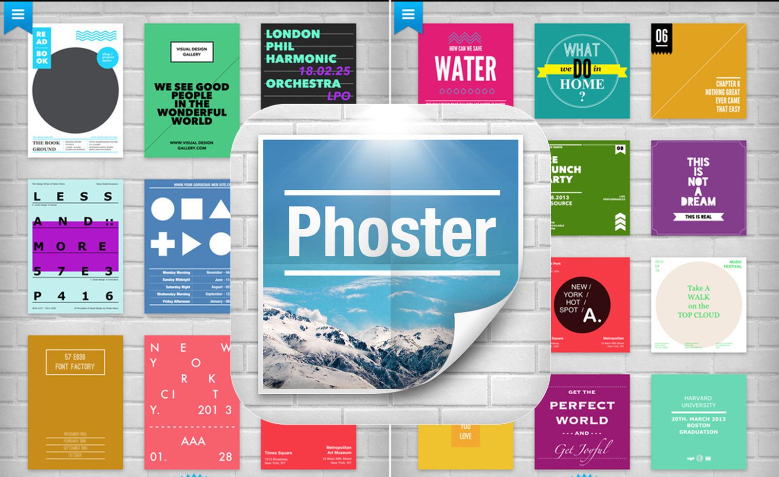 Creare poster in tempi rapidi e in mobilità con Phoster