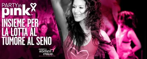 """Evento """"Party in Pink"""" di Zumba per la ricerca contro il cancro."""