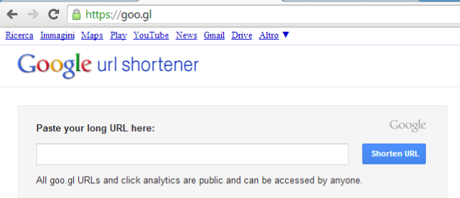 google shortner