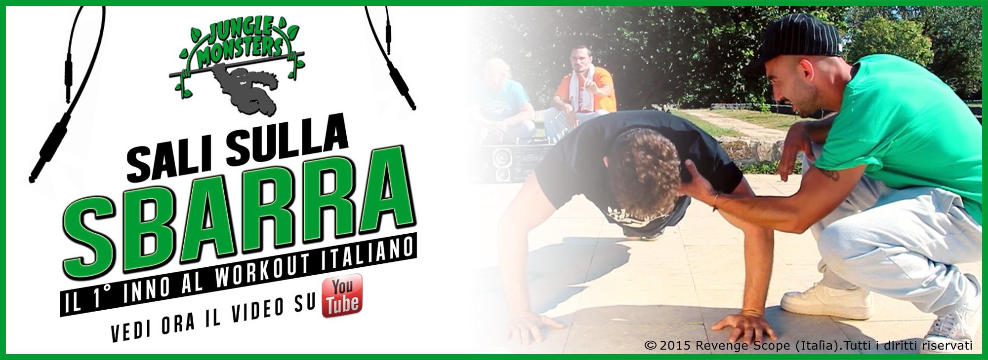 """Il 1° inno al workout italiano: """"Sali sulla sbarra!"""""""