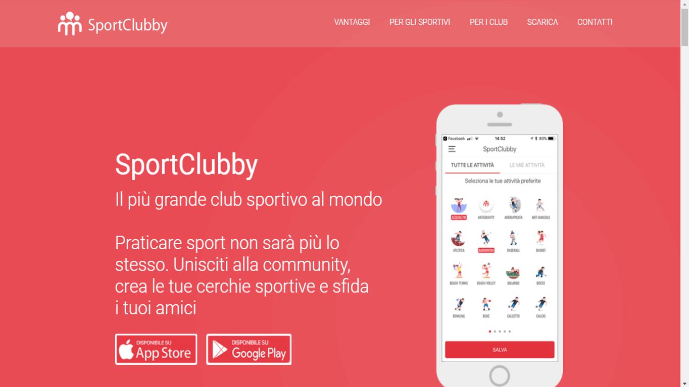 SportClubby: rivoluzionare il modo di fare sport