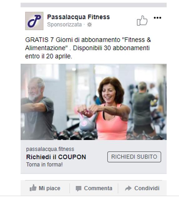facebook landing page contatti